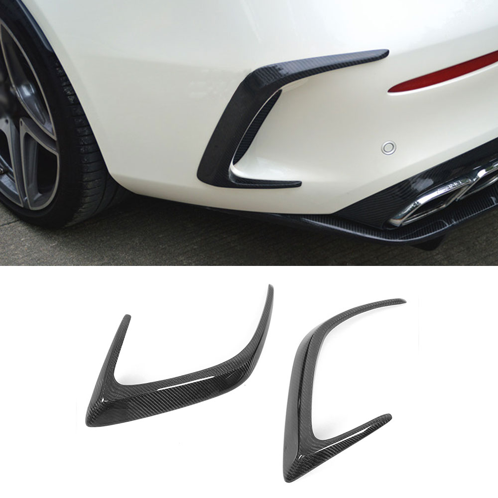 C Class Carbon Fiber /FRP Black Rear Bumper Trims Side Vents Spoiler for <font><b>Mercedes</b></font> Benz W205 C63 AMG C200 C260 <font><b>C300</b></font> <font><b>Coupe</b></font> 15-17 image