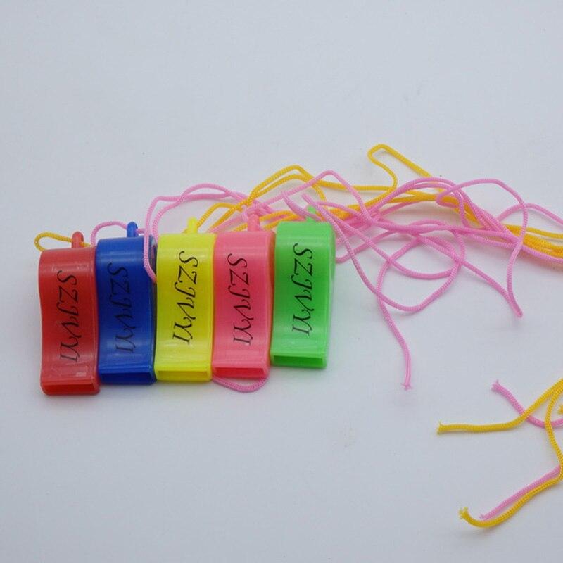 Creatief Kinderspeelgoed Fluitje Traditionele Fluitje Fan Fluitje Plastic Kleur Met Een Touw Fluitje Kleuterschool Party Kind Gift Speelgoed