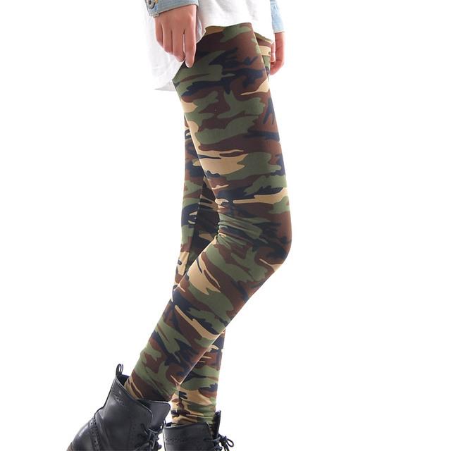 Army Camouflage 3D Print Elastic Women Leggings