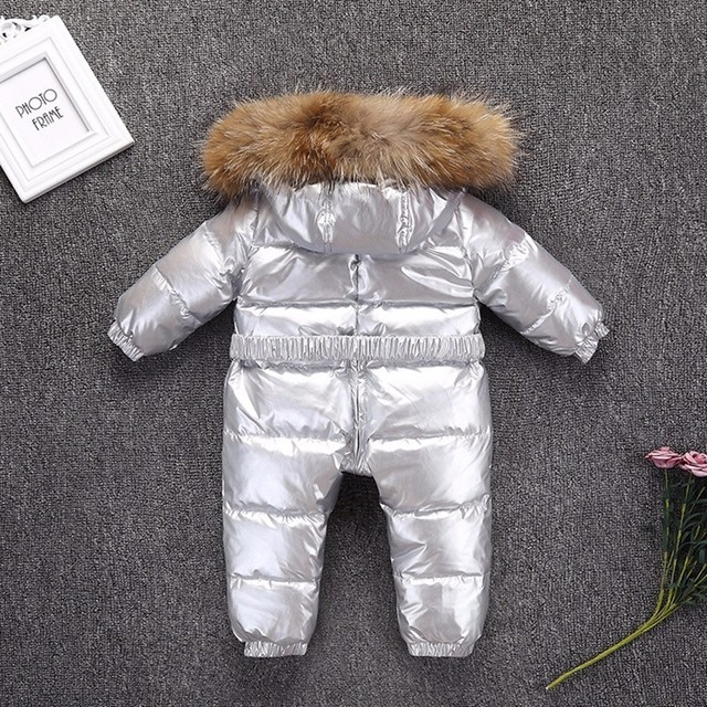 -30 degrees Winter coat Romper Children Baby wear Boy Thick Girl infant snow Clothes Down Jacket Kids Overcoat waterproof Parka