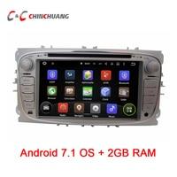 2 GB RAM Quad Core! Android 7.1.1 Car DVD Player GPS cho Ford Focus Mondeo Kuga Galaxy với Đài Phát Thanh Wifi BT DVR, hỗ trợ DAB + OBD