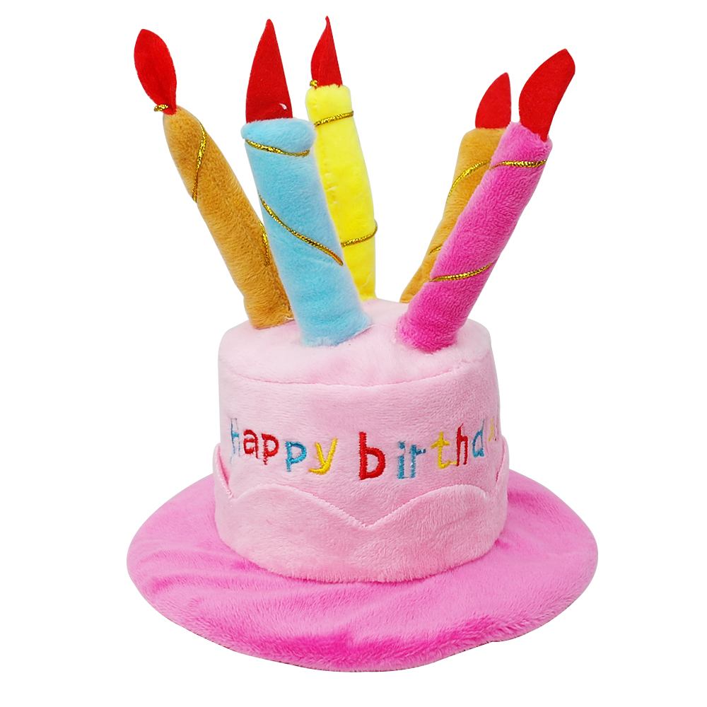 Dog Birthday Hat Birthday Party Cap Dogs Birthday Cake Candles