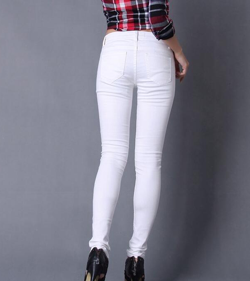 Aliexpress.com : Buy White skinny jeans for women winter fashion