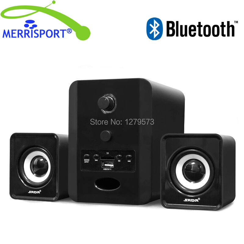 2.1 Wireless Bluetooth Speakers with Subwoofers 3.5mm AUX Port For Headphones Smartphone Iphone Samsung Desktop PC Laptops Black