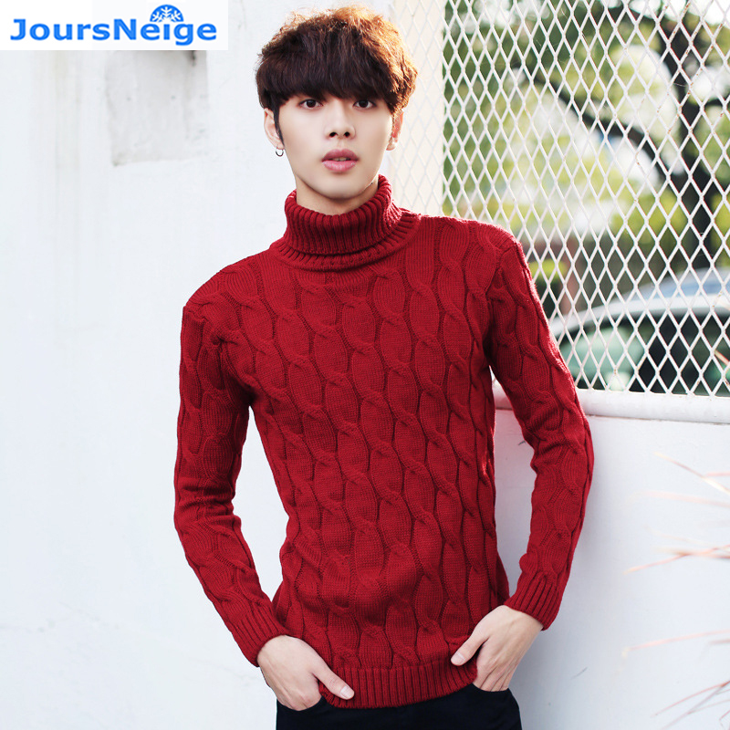 Mens Knitted Pullovers 2017 Men Spring New Fashion Turtleneck Striped Knitwear Knitted Sweaters And Pullovers Jumper Teenager