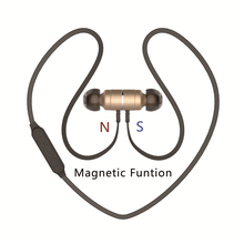 Plextone imán de metal en la oreja los auriculares auriculares auricular bluetooth deporte de bass mic auricular inalámbrico auriculares audifonos