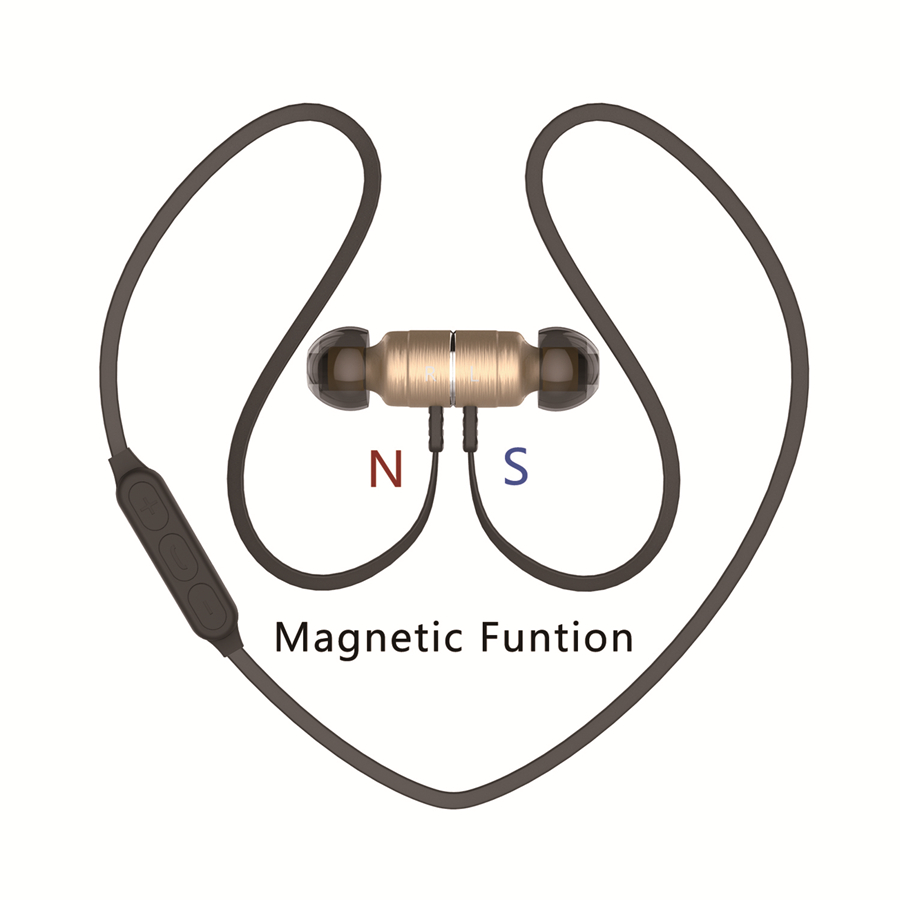 Auriculares Bluetooth Earphone PlEXTONE Metal Magnet In-Ear Earphone Sport Running Bass Wireless Headset Mic Earbuds Audifonos image