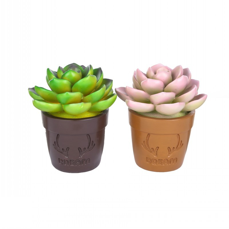 Creative Simulation Potted Resin Craft Plants Decorative Holiday Gifts Fake Plants Artificial Flowers Home Decoration