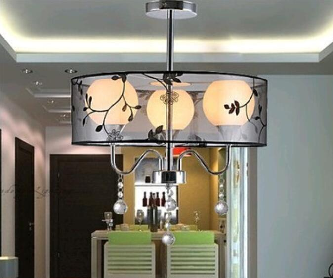 New Modern Crystal And Drum Pendant Light Fixture Style 3 BALL Lights(China  (Mainland