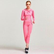 Women's 2 Piece Yoga Gym Suit Outfit Athletes Workout Gear Running Front zipper Top T-shirt Leggings Pants