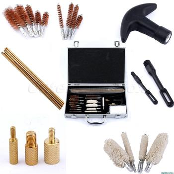 Tactical Guns Rifle Pistol Shotgun Cleaning 101 PC Case Brush Cleaner Maintenance Kits Tool w/ Aluminum Carry Case
