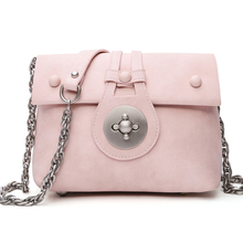 KEYTREND Summer Vintage Women PU Leather Mini Shoulder Crossbody Bags Chains Handbags Cover Lock Messenger Bags For Girls KSB189