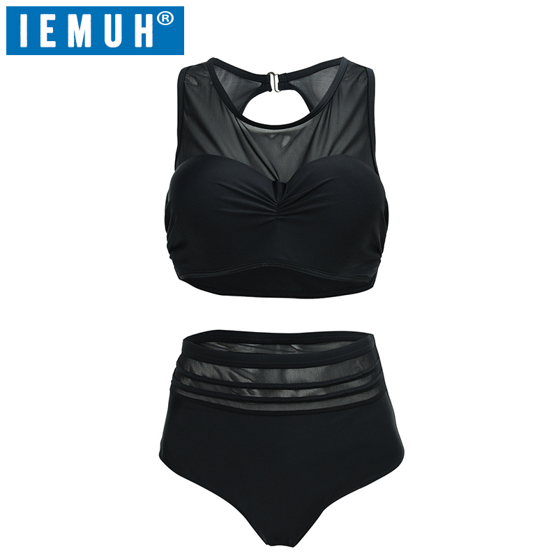 IEMUH Brand <font><b>2018</b></font> <font><b>Plus</b></font> <font><b>Size</b></font> <font><b>Swimwear</b></font> Style <font><b>Push</b></font> <font><b>Up</b></font> Bikini Bathing Suit <font><b>Sexy</b></font> High Waist Swimsuit High Quanlity Sport <font><b>Large</b></font> <font><b>Size</b></font> image