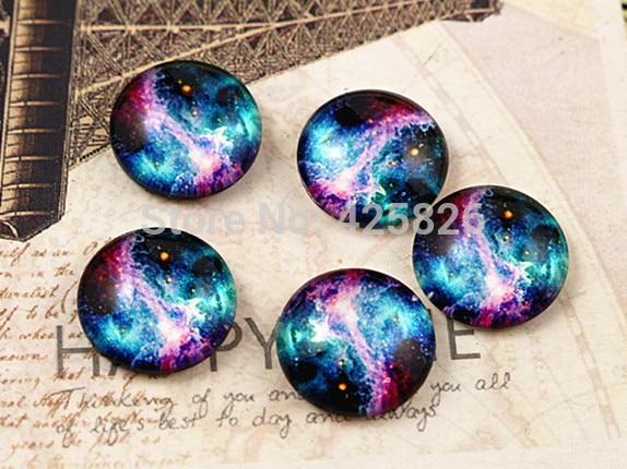 Hot Sale 20pcs 12mm Handmade Photo Glass Cabochons (Nebula) (E2-13) nebula