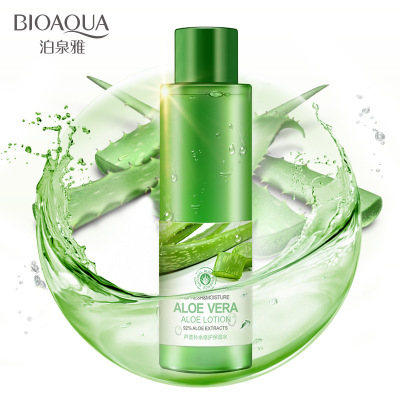 BIOAQUA aloe vera smoothing face toner oil control pores brightens skin color face skin care repairing moisturizing remove acne ...