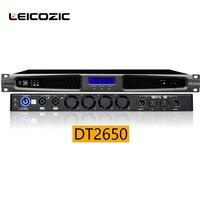Leicozic dsp sound amplifier 650w x2 RMS 1u digital amplifier amplificador stage 1u rack mount power amp professional amplifier