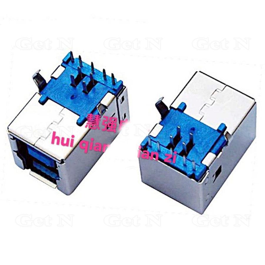 100pcs lot USB 3 0 Type B USB Receptacle Socket Port Full Copper Right Angle Enironment