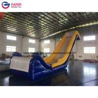 Water Slide For Water Park Toys Inflatable floating water slide for boat , inflatable yacht slide , water slide boat