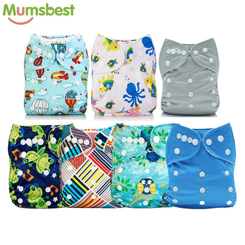 Mumsbest Big Promotion 7pcs Lot Wholesale 11 11 Blue Baby Unisex Cloth Diaper One Size