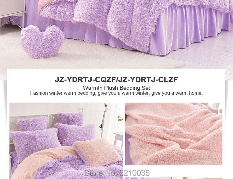 HTB1UJxNmIjI8KJjSsppq6xbyVXag - Velvet Mink or Flannel 6 Piece Bed Set, For 5 Bed Sizes, Many Colors, Quality Material