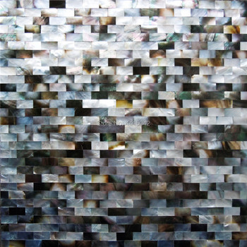 Seamless black mother of pearl mosaic tile for home decoration bathroom wall tile backsplash decoration 5 square feet/lot AL070