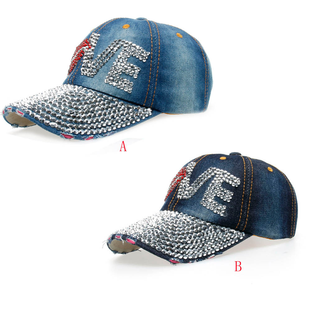 women cap hat new design women luxury rhinestone casual fashion baseball cap solid jet  adjustable size casual caps 7.12  0.5(China)