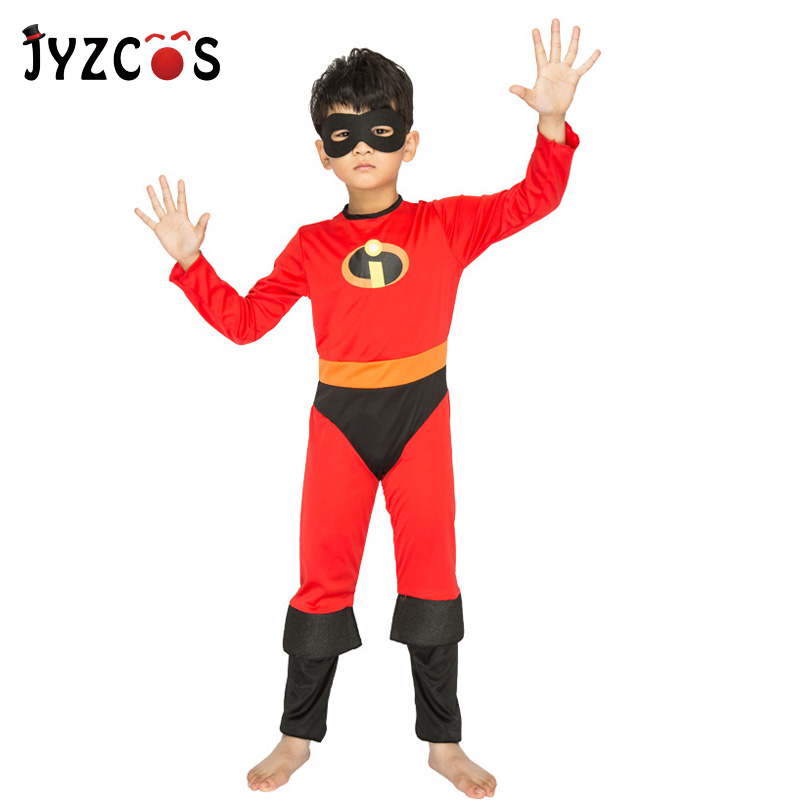 JYZCOS The Incredibles Costume Halloween Costumes for Kids Boys Superhero Cosplay Zentai Suit Party Fancy Dress