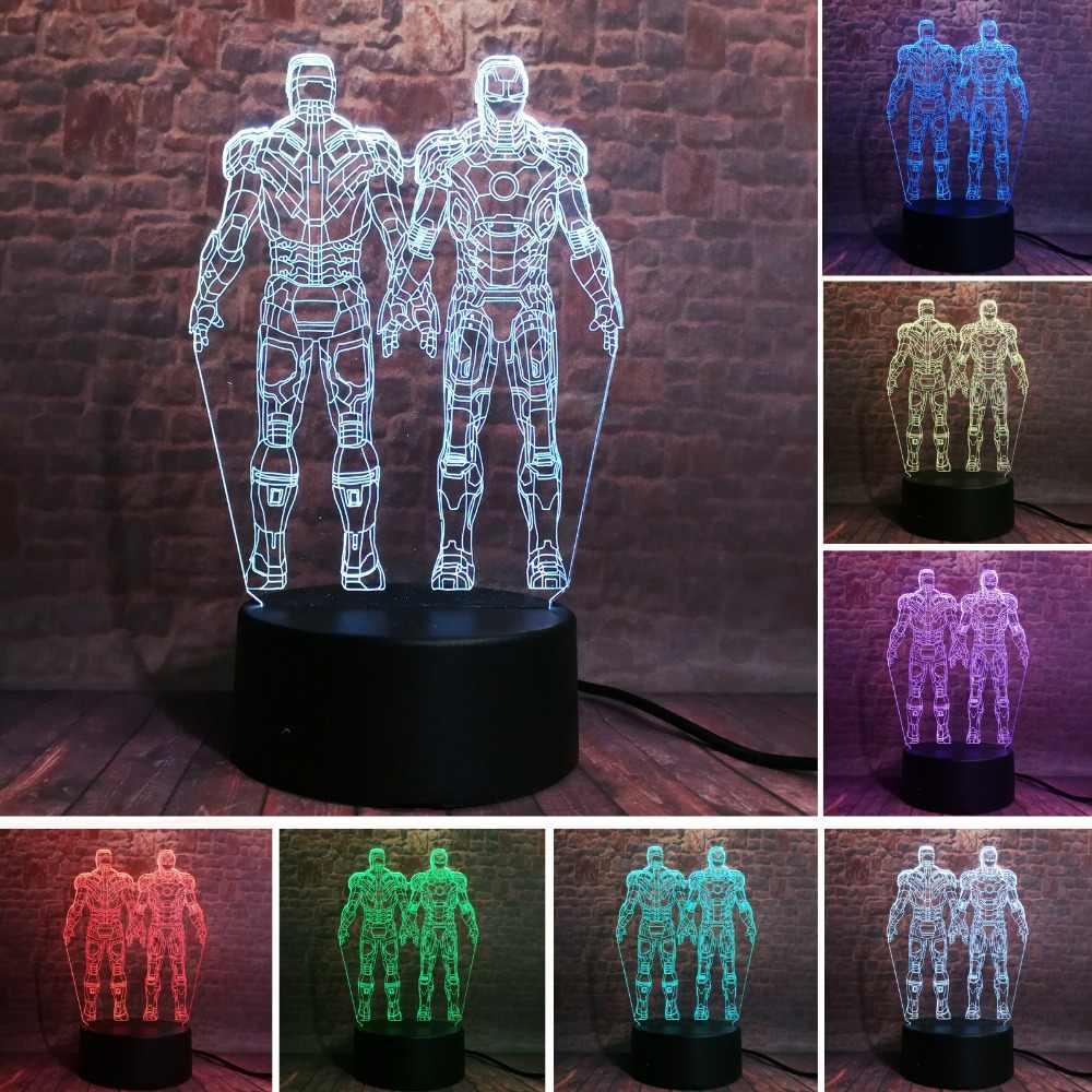 Marvel legends super herói duplo homem de ferro filme figura de ação 7 mudança de cor meninos homem quarto decoração criança natal adolescentes brinquedos presentes