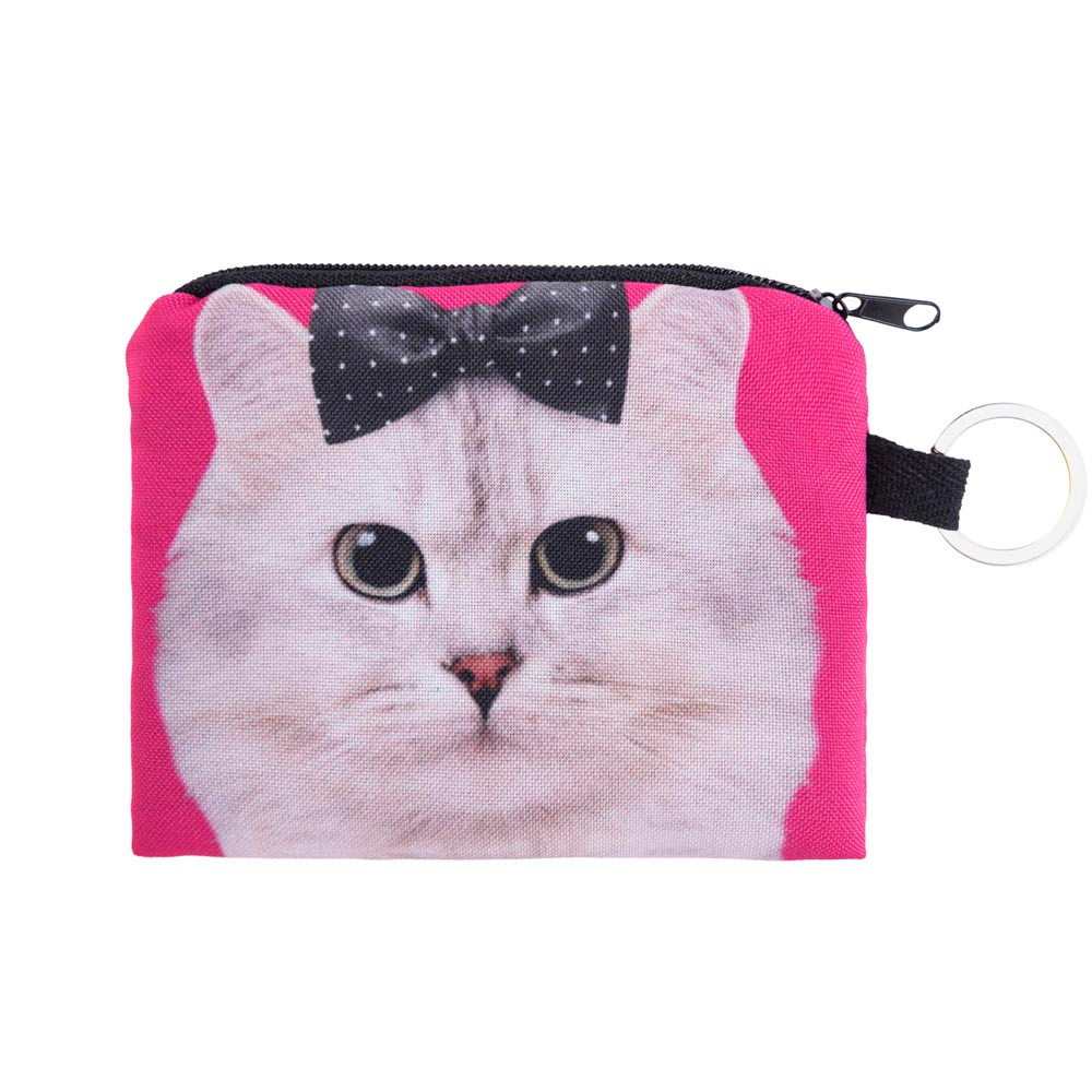 Cat Coin Purse Girl printing coins change purse Clutch zipper zero wallet phone key bagsKawaii Coin Purse Women Monedero A0728 электрочайник braun wk600