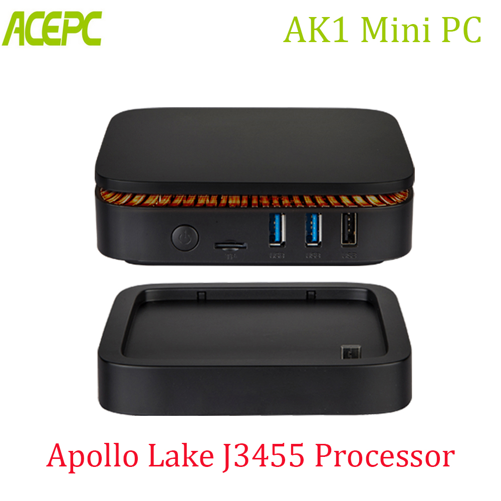 US $158 99 30% OFF|ACEPC AK1 Win10 LINUX MINI PC Intel Apollo Lake Celeron  J3455 4G 32G 6G 64G 2 4G/5G Desktop Computer Dual WIFI BT4 0 Pc Mini -in