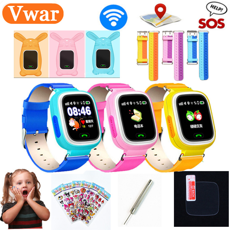 Original Q90 <font><b>GPS</b></font> Phone Positioning Children Watches with WIFI SOS Smart Baby Kids Watch Anti Lost Monitor Tracker PK Q80 <font><b>Q50</b></font> Q60 image