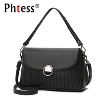 Small Crossbody Bags For Women 2017 Black Leather Shoulder Bags Ladies Sac A Main Women Messenger