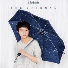 Лидер продаж синие чернила Брендовые женские зонтик ветрозащитный Мода Автоматический Складной Зонты от дождя анти-УФ сильные дамы цветные зонтики
