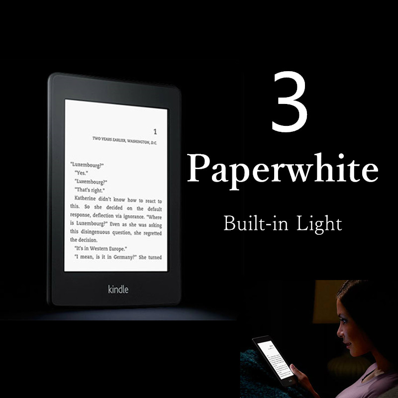 Brand New Unopened Kindle Paperwhite 7 Generation E-book reader Built in Light 6 Inch 4GB Ebook Reader E-ink Ereader