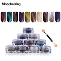 New 2g/box 3D Effect Cat Eye Magnet Magic Mirror Powder Dust UV Gel Polish Nail Art Glitter Pigment DIY  Manicure Tools