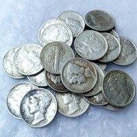 90 Silver Mercury Head Dimes A Set Of 1916 1945 D 28pcs Dates Nice Quality Coins