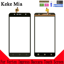 Keke Mia 5.5 For Vertex Impress Baccara Versions Touch Screen Glass Panel Digitizer Sensor Touchpad Front Repair