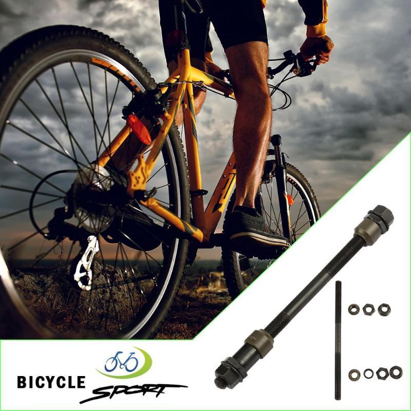MTB Mountain Road Bike 10mm Carbon Steel Rear Axle Hub Shaft Bicycle Parts Mountain Bike Shaft Lever Solid Bottom Brackets