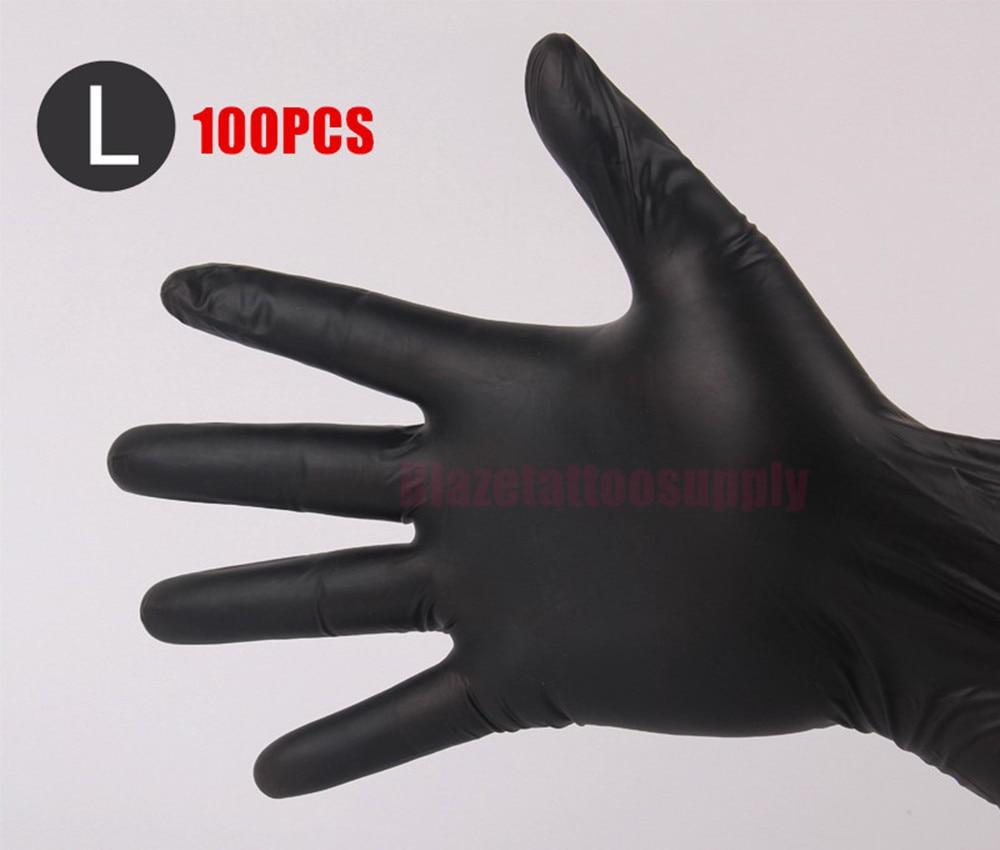 Black nitrile gloves xs - 100pcs Large Disposable Black Nitrile Gloves For Tattoo Machine Kit Set Supply China Mainland