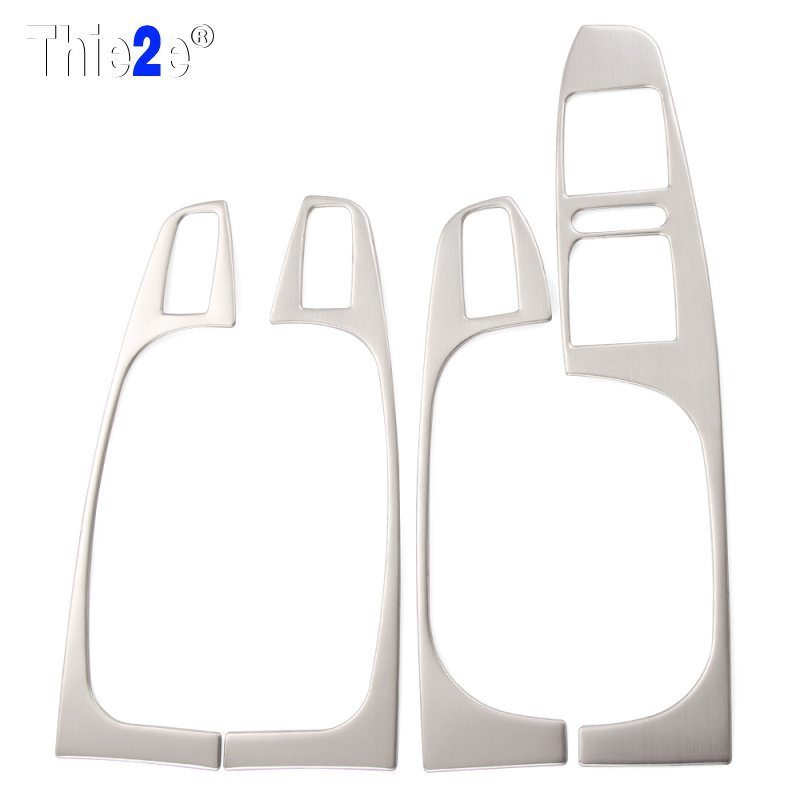 Car Styling stainless steel armrest panel cover decoration 4pcslot For Volkswagen VW Jetta MK6 2012-2014 auto parts