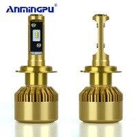 ANMINGPU Car Headlight Bulbs 2PCS Led Headlight Kit H7 Led With Philips Chip 12V 24V 90w