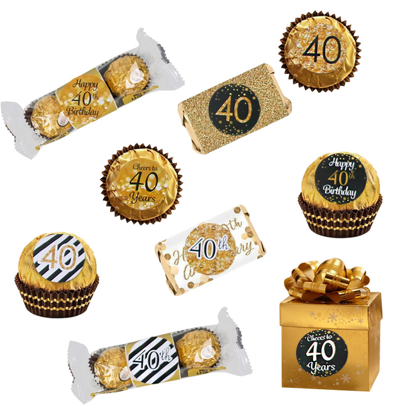 Image 2 - 6 Page Happy 30/40/50 Birthday Paper Sticker 30 40 50 Year Old Event Party Gift and Candy Food Stickers Anniversary Party Decor-in Party DIY Decorations from Home & Garden
