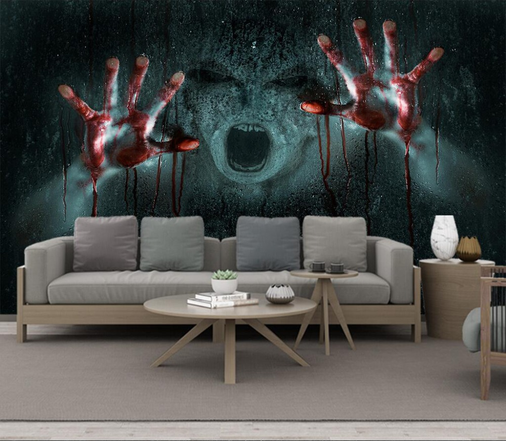 Decorative Wallpaper Scary Ghost Background Wall Painting