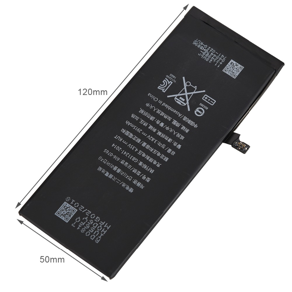 For iPhone 6 Plus 2915mAh Phone Replacement Rechargeable Battery 6Plus Backup Li-ion Battery Bateria High Quality Batterij