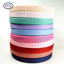 HL 5/8 (15MM) 10 Meters/lot Printed Dots Grosgrain Ribbons Gift Box Wrapping Belt Wedding Party Decorative Crafts