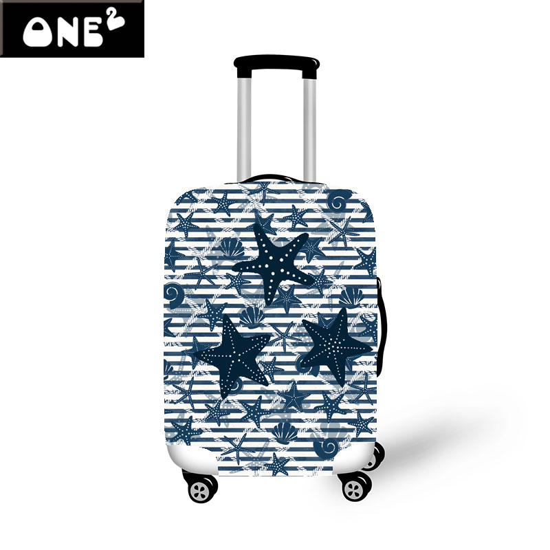 3D Starfish Design Printing Luggage Cover Suitable for Girls and Women 22 26 Suitcase Baggage Cover