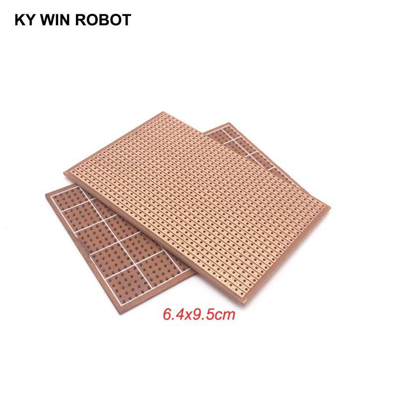 2pcs/lot DIY 6.4x9.5 6.4*9.5CM Prototype Paper PCB Universal Experiment Matrix Circuit Board Single Row Continuous Hole 64x95mm