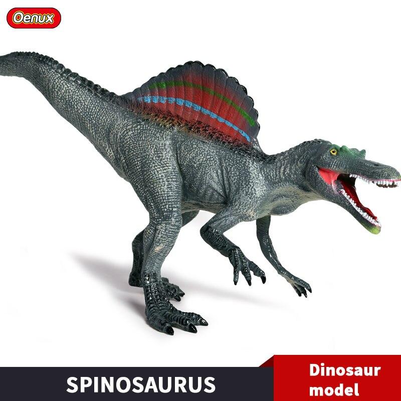 Oenux Nuovo Jurassic Savage Lungo Spinosaurus Dinosauro Action Figure IN PVC Solido Dionsaurs Animali Modello Brinquedo Giocattolo Per Il Regalo Dei Capretti