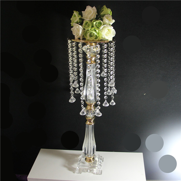 Home Decor Candles & Holders 68cm Tall Clear Acrylic Crystal Flower Stand Table Centerpiece