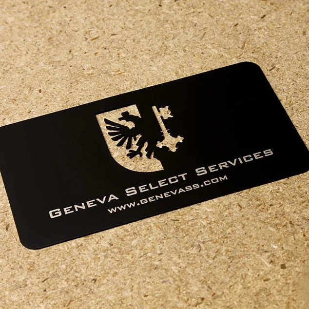 Laser Engraving Aluminum Business Card